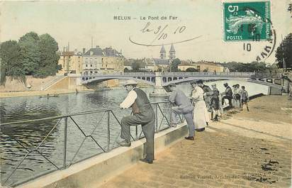 """CPA FRANCE 77 """"Melun, le Pont de Fer"""""""