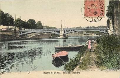"""CPA FRANCE 77 """"Melun, Pont aux Moulins"""""""