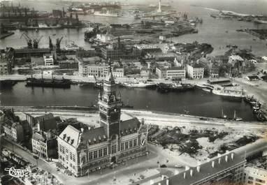 """/ CPSM FRANCE 59 """" Dunkerque, l'hôtel de ville, le port"""""""