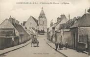 """28 Eure Et Loir / CPA FRANCE 28 """"Courville, Faubourg Saint Pierre, l'église"""""""