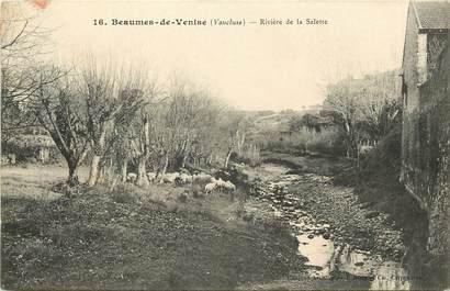"""CPA FRANCE 84 """"Beaumes de Venise, rivière de la Salette"""""""