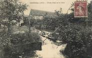 """45 Loiret CPA FRANCE 45 """"Courtenay, chutes d'eau sur la Cléry"""""""