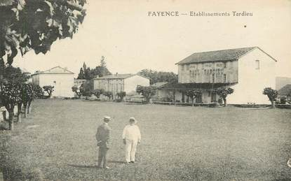 "CPA FRANCE 83 ""Fayence, Etablissements Tardieu"""