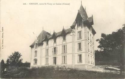 """/ CPA FRANCE 23 """"Cholet, entre Saint Vaury et Guéret"""""""
