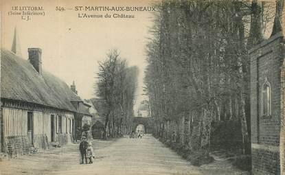 """CPA FRANCE  76 """"Saint Martin aux Buneaux, avenue du Chateau"""""""