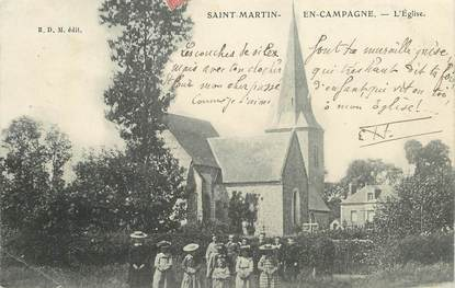 "CPA FRANCE  76 ""Saint Martin en campagne, l'Eglise """