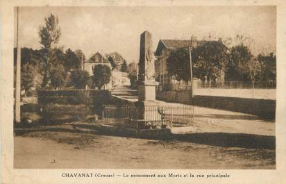 "/ CPA FRANCE 23 ""Chavanat, le monument aux morts"""