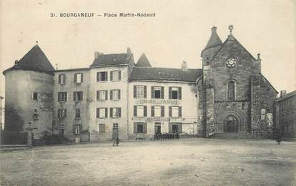 "/ CPA FRANCE 23 ""Bourganeuf, place Martin Nadaud"""