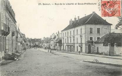 """/ CPA FRANCE 21 """"Semur, rue de la Liberté et sous préfecture"""""""