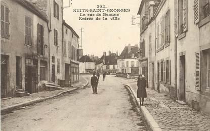 """/ CPA FRANCE 21 """"Nuits Saint Georges, la rue de Beaune"""""""