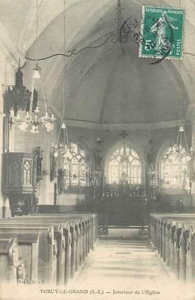 """CPA FRANCE  76 """"Torcy le Grand, interieur de l'Eglise"""""""