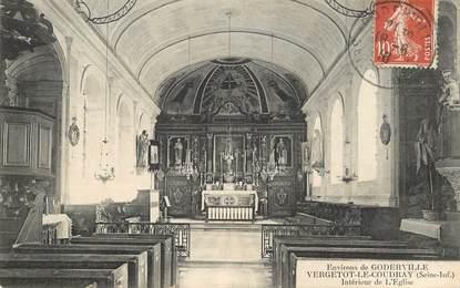 """CPA FRANCE  76 """"Env. de Goderville, Vergetot le Coudray, l'Eglise"""""""