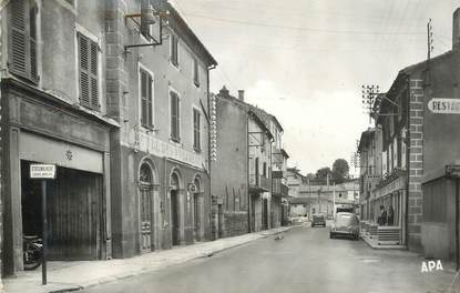 """CPSM FRANCE 48 """"Langogne, un coin de la ville"""""""