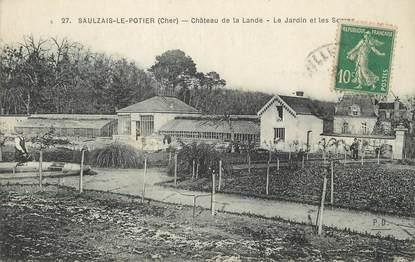 """/ CPA FRANCE 18 """"Saulzais Le potier, château de la Lande"""""""