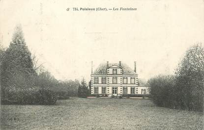 "/ CPA FRANCE 18 ""Poisieux, les Fontaines"""