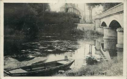 "/ CPA FRANCE 18 ""Charost, le pont"""