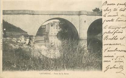 """CPA FRANCE 47 """"Lavardac, pont de la Baise"""""""