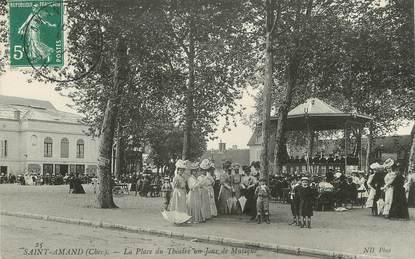 """/ CPA FRANCE 18 """"Saint Amand, la place du théatre un jour de musique"""""""