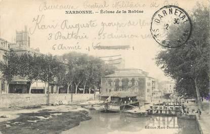 """/ CPA FRANCE 11 """"Narbonne, écluses de la robine"""""""