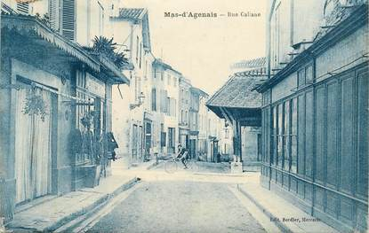 """CPA FRANCE 47 """"Le Mas d'Agenais, rue Galiane"""""""