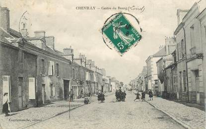 """CPA FRANCE 45 """"Chevilly, centre du bourg"""""""