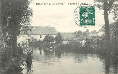"""CPA FRANCE 45  """"Bonny sur Loire, moulin de Lande"""""""