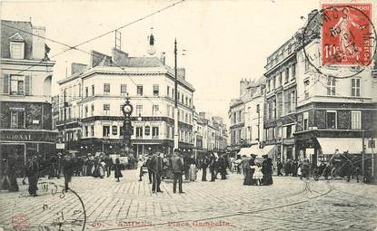 """CPA FRANCE 80 """"Amiens, Place Gambetta"""""""