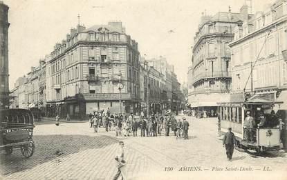 """CPA FRANCE 80 """"Amiens, Place Saint Denis"""