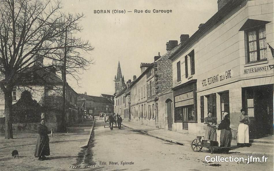 Cpa france 60 boran rue du carouge 60 oise autres for Liste communes oise