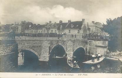 """CPA FRANCE 80 """"Amiens, le pont du Cange"""""""