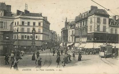 """CPA FRANCE 80 """"Amiens, la place Gambetta"""""""