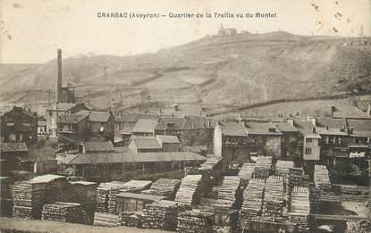 """/ CPA FRANCE 12 """"Cransac, quartier de la treille vu du Montet"""""""