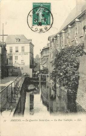 """CPA FRANCE 80 """"Amiens, le Quartier Saint Leu, la rue Taillefer"""""""