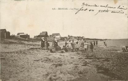 "/ CPA FRANCE 56 ""Damgan, la plage"""