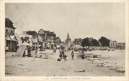 "/ CPA FRANCE 56 ""Larmor Plage, la plage principale"""