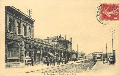"""/ CPA FRANCE 59 """"Aulnoye, intérieur de la gare"""""""