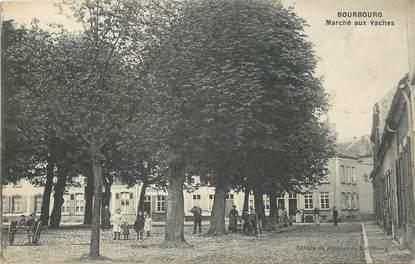 """/ CPA FRANCE 59 """"Bourbourg, marché aux vaches"""""""