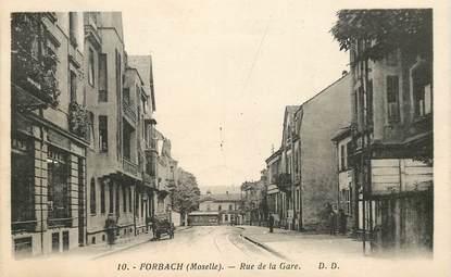 cpa france 57 forbach rue de la gare 57 moselle forbach 57 ref 35558 collection. Black Bedroom Furniture Sets. Home Design Ideas