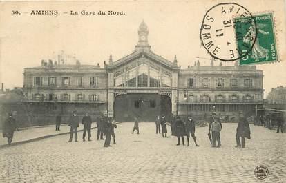 """CPA FRANCE 80 """"Amiens, la gare du Nord"""""""