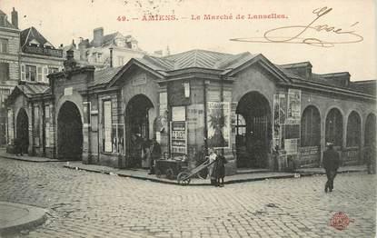 """CPA FRANCE 80 """"Amiens, le marché de Lanselles"""""""