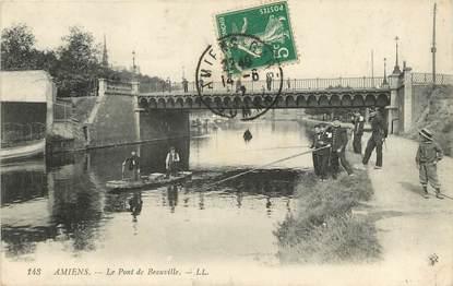 """CPA FRANCE 80 """"Amiens, le pont de Beauville"""""""
