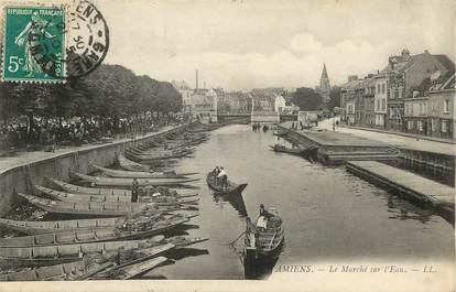 """CPA FRANCE 80 """"Amiens, le marché sur l'eau"""""""