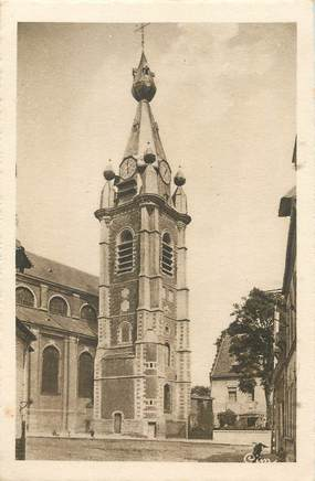 "/ CPA FRANCE 59 ""Conde sur Escaut, clocher de l'église Saint Wasnon"""