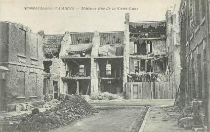 """CPA FRANCE 80 """"Amiens, maison et rue de la Demi Lune"""""""