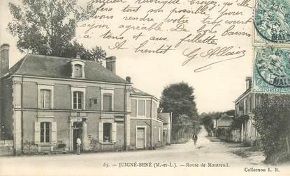 """CPA FRANCE 49 """"Juigné Béné, rte de Montreuil"""""""