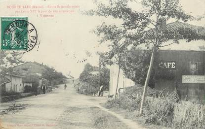 """/ CPA FRANCE 55 """"Boureuilles, route nationale"""""""
