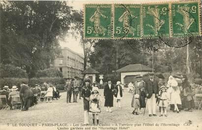 """CPA FRANCE 62 """"Le Touquet Paris Plage, les jardins du casino"""""""
