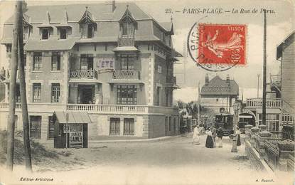 "CPA FRANCE 62 ""Le Touquet Paris Plage, rue de Paris"""