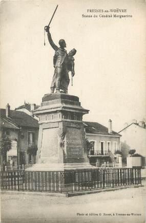 """/ CPA FRANCE 55 """"Fresnes en Woëvre, statue du générale Marguerite"""""""
