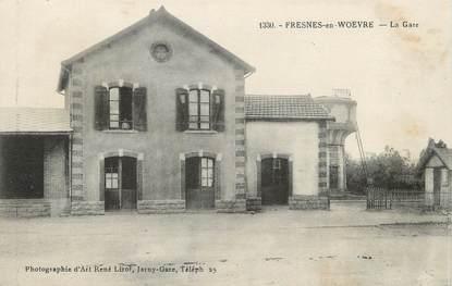 "/ CPA FRANCE 55 ""Fresnes en Woëvre, la gare"""